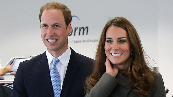 The Duke and Duchess of Cambridge pictured during a visit last month