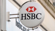 An HSBC sign outside a branch.