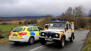 Mountain rescue and police