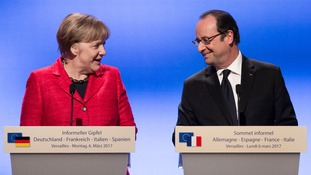 Angela Merkel and Francois Hollande oppose Theresa May's proposed timetable for talks.