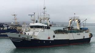 Trawlers arrive in Cornwall
