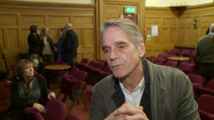 Actor Jeremy Irons in Gloucester to back campaign against waste incinerator