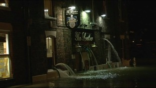 Water had to be pumped away from houses and properties in York overnight