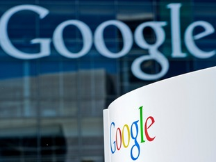 Google headquarters with logo