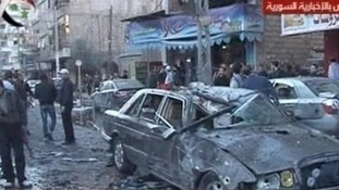 Two car bombs ripped through the eastern area of Jaramana, Damascus