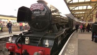 Flying Scotsman returns to celebrate opening of Settle-Carlise line