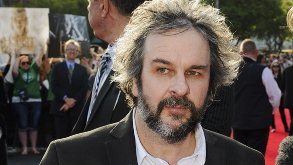 The film's director Peter Jackson arrives at the premiere.