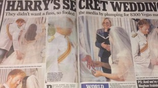 The Daily Mail's fake royal wedding spread.