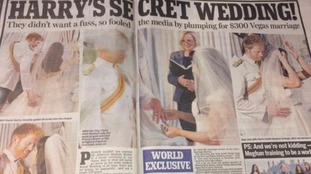 The Daily Mail's fake wedding spread.