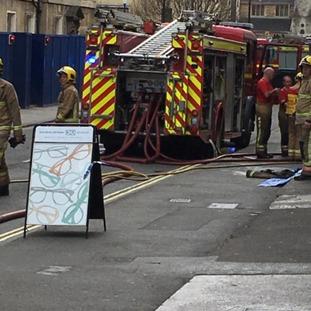 Pierrepont street blocked by fire crews.