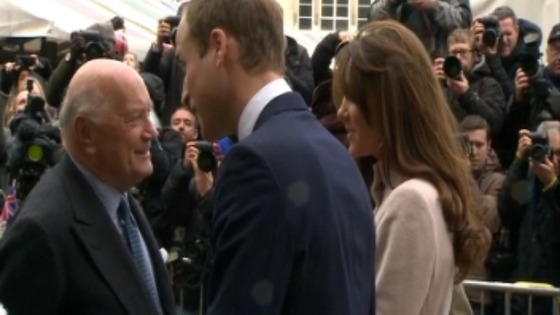 The Royal couple are greeted as they arrived at Cambridge's Guildhall.
