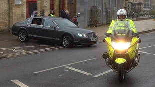 William and Kate arrive in Cambridge