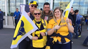 The road to Wembley- Oxford fans take on Coventry