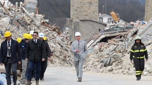 Prince Charles visits Italian village devastated by earthquake