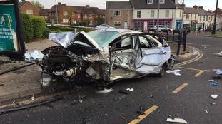 Car crash in Spennymoor