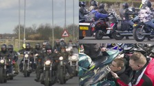 Bikers ride out in support of a terminally ill man