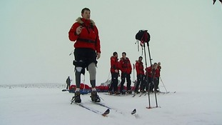 Duncan has previously trekked to the South Pole.