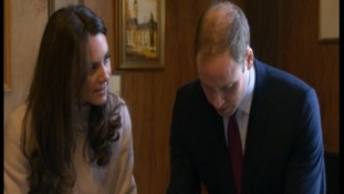 The Duke and Duchess of Cambridge in the Mayor's office.