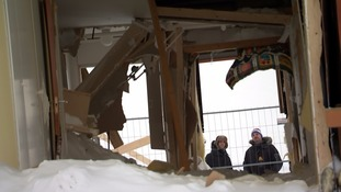 This bedroom was empty when the avalanche struck.