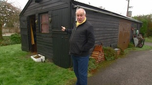 Bob Crampton outside The Shed.