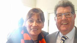 Lorraine with Queens fan Gordon Hood.