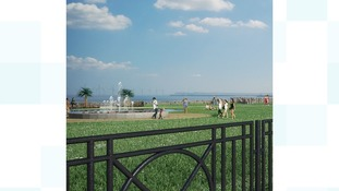 An artist's impression of some of the Seaton Carew improvements
