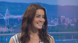 Cardiff star Lucie Jones says representing the UK at Eurovision is 'amazing'
