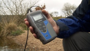 The PH over the water is regularly tested.