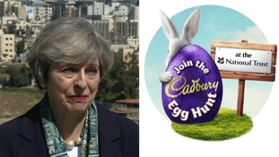 Theresa May slams 'ridiculous' decision not to include Easter in egg hunt title