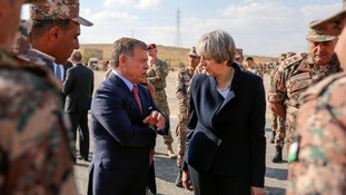 The prime minister meets Jordan's King Abdullah II.