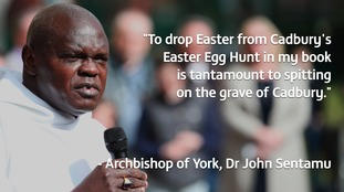 Archbishop of York: Egg hunt without Easter 'spits on Cadbury founder's grave'