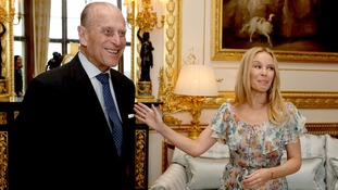 What did the Duke say to make Kylie laugh?
