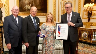 Kylie Minogue honoured by Duke of Edinburgh for Anglo-Australian relations
