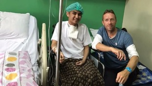 Coldplay frontman Chris Martin pays surprise visit to fan with cancer
