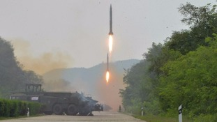 North Korea 'fires ballistic missile into waters off South Korean coast'