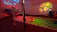 Jack and Lorraine enjoy the sensory pool at Oakwell Respite Centre
