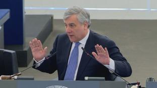 President Antonio Tajani telling Mr Farage to retract his comment