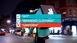 Riders wear 'kit' or 'branded clothing' not 'uniform'.