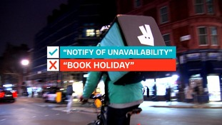 Riders 'request absence' or 'notify of unavailability', they do not 'book holiday'.