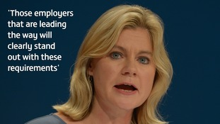 Minister for women and equalities Justine Greening hailed the potential of the new measures.