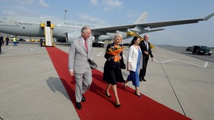 The red carpet was rolled out for the royals in Vienna on a trip that included stops in Romania and Italy.