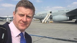 Royal Editor Chris Ship travelled on the RAF plane last week.