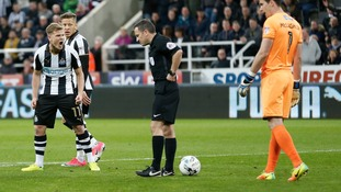Referee Keith Stroud will not officiate Gillingham's home game with Millwall on Saturday after his mistake at Newcastle