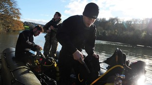 The Southern Dive Unit used an inflatable boat to reach the nest.