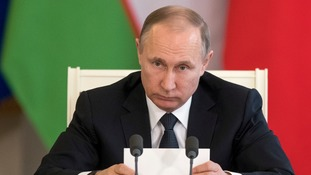 Vladimir Putin said accusations of a Syrian chemical attack were 'groundless'