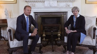 Theresa May met with Donald Tusk ahead of Brexit negotiations.