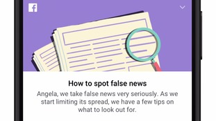 From Thursday a new prompt will appear at the top of news feeds called 'How to spot false news'.