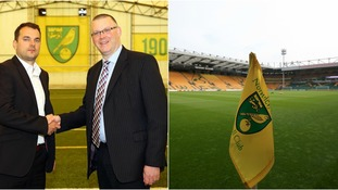 Stuart Webber (left) has started work at Norwich City.