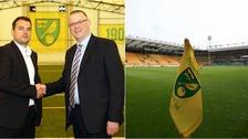 Stuart Webber (left) has started work at Norwich City.