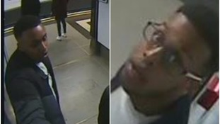 CCTV images of the two men police want to speak to over the robbery.